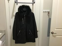 womens black softshell winter lined coat