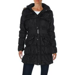 womens black winter parka anorak jacket outerwear