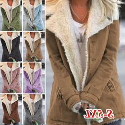 Women Casual Winter Long Coats Parka Ladies Warm Faux Fur Fl