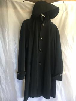 Calvin Klein Womens Classic Black Unique Buttons Lined Hoode