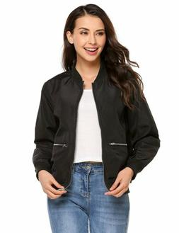 Beyove Womens Classic Zip Up Quilted Bomber Jacket Lightweig
