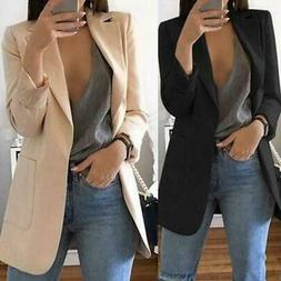 Womens Elegant Fashion Slim Casual Business Blazer Suit Jack