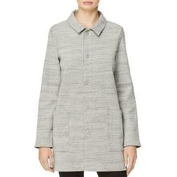 Eileen Fisher Womens Fall Jacket Casual Car Coat Outerwear P