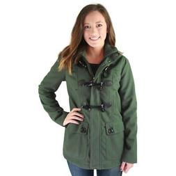 Urban Republic Womens Green Toggle Pea Coat Outerwear Junior