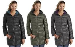Outdoor Spirit Womens Hooded Down Jacket Puffer Bubble Coat