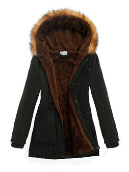 Womens Hooded Faux Fur Warm Coats Parkas Jackets iLoveSIA Si