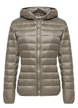 Wantdo Womens Hooded Packable Ultra Light Weight Down Coat S