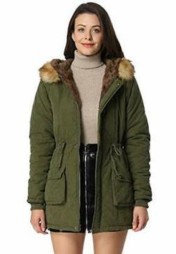 iLoveSIA Womens Hooded Warm Coats Parkas 10 Olive Green New
