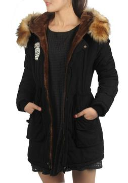 iLoveSIA Womens Hooded Warm Coats Parkas with Fax Fur Jacket
