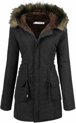 Beyove Womens Hooded Warm Winter Coats with Faux Fur Lined O
