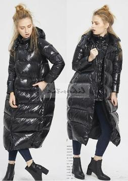 Womens Loose Thick Duck Down Jacket Hooded Coats Warm Parkas