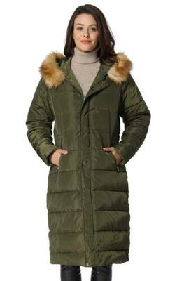 iLoveSIA Womens Maxi Parka Long Coat with Fur Trimmed Hood P
