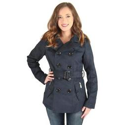 Urban Republic Womens Navy Solid Pea Coat Outerwear Juniors