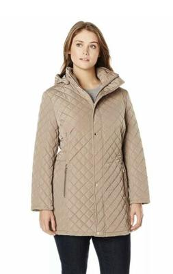 Calvin Klein Women's PlusSize Classic Quilted Jacket With