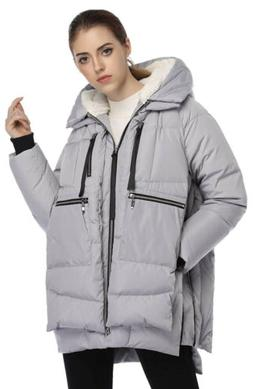 Orolay Women's Silver Thickened Winter Down Jacket Coat SZ