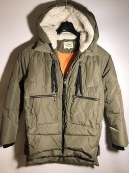 Orolay Women's Size M Thickened Down Jacket Hooded Light G