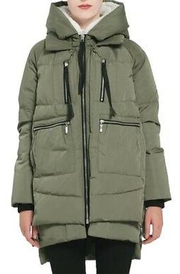 Orolay Womens Thickened Down Jacket Green Size Medium M Sher