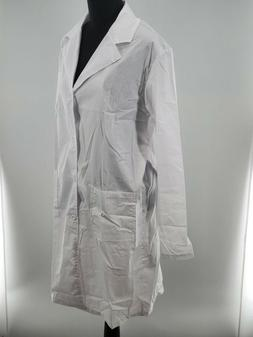 Abollria Womens White Long Sleeve Pockets Collared Lab Coat