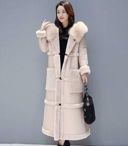 Womens Winter Thicken Fur Furry Coats Fashion Fur Lining Ove