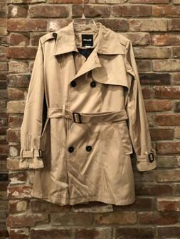 Womens XL WANTDO Brown Khaki Double Breasted Fall Trench Coa