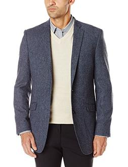 U.S. Polo Assn. Men's Wool Blend Sport Coat, Blue Donegal, 4
