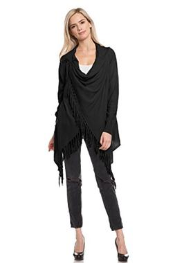 Made By Johnny WSK1541 Womens Plus Size Fringe Ponch Capes S