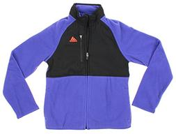 Adidas Youth Big Girls Polar Fleece Mock Neck Jacket, Purple