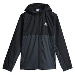 Adidas Youth Tiro 17 Soccer Rain Jacket XL Black-Dark Grey-W